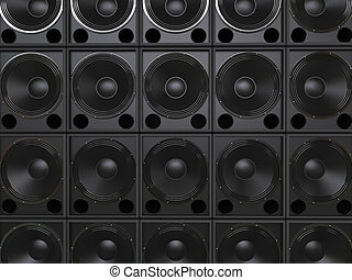Subwoofer speakers background