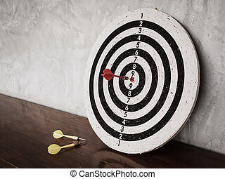 succès, cible, reussite, concept, cible, dards