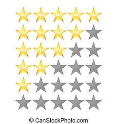 succes, estrelas, semelhante, realístico, sinal, revisão, isolado, Símbolo, fundo, Jogo, vetorial, classifique, realização, branca, avaliação, elemento, conceito