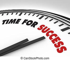 succes, klok, -, doelen, tijd, prestatie