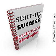 succes, zakelijk, raad, strategie, boek, nieuw, start