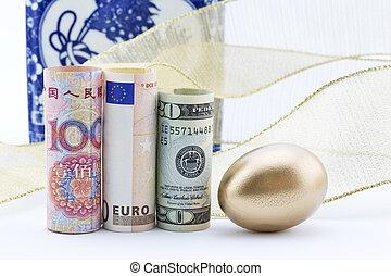 success., パートナー, yuan, ビジネス, 世界的である, 反映しなさい, 中国語