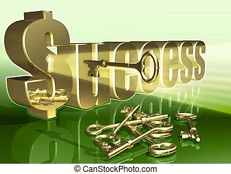 Success 01 - Key to Success 3D