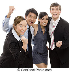 Success 2 - A diverse business team celebrate their success