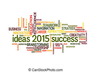 success 2015 word cloud
