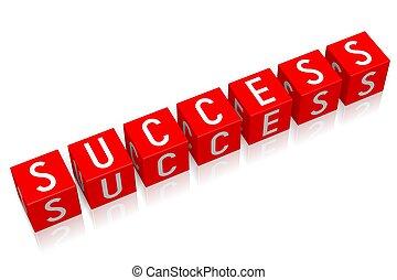 Success - 3D cube word