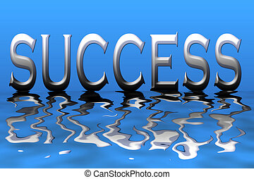 Success - An illustration of the word success