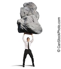 Success and determination in hard business - Concept of ...
