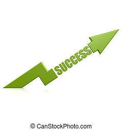 Success arrow up green