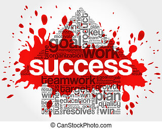 Success Arrow word cloud