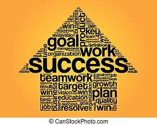 Success Arrow Words Cloud