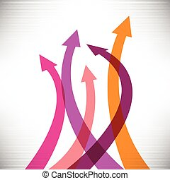 Success arrows creative background for print or web