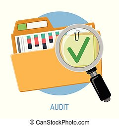 Success Audit Concept - Success audit concept. Open folder...