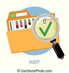 Success Audit Concept - Success audit concept. Open folder...