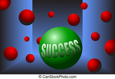 success ball motivation stand out
