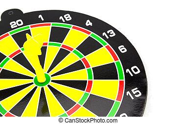 success:, bersaglio, e, freccette, in, bulls-eye
