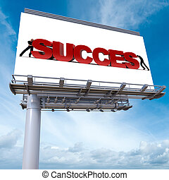 Success billboard