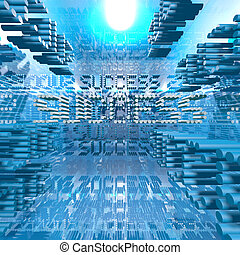 Success blue digital. Ideal for business background.