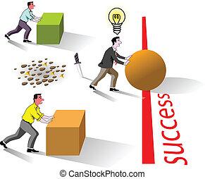 success brain work - metaphor of business brain work for...