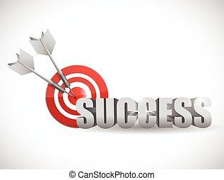 success bulls eye target illustration design over a white background