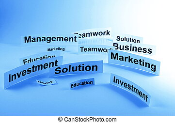 success business concept with words on paper