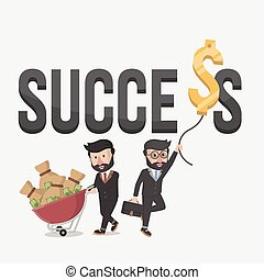 success business illustration conce