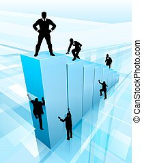 Success Business People Silhouettes Concept