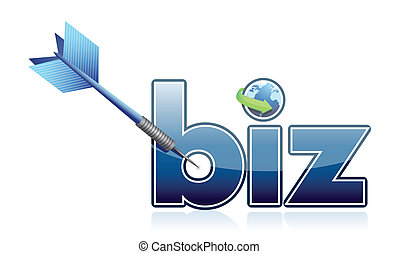 Success business target illustration