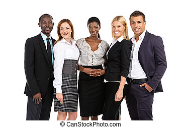 Success Business team - Group of people in suits looking at...
