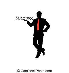 success businessman color vector
