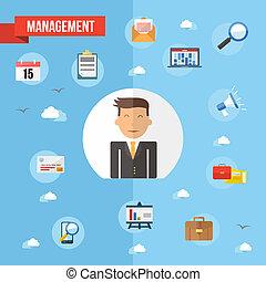 Success businessman flat concept illustration