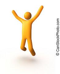 Success - Businessmen men jumping .