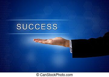 success button on virtual screen