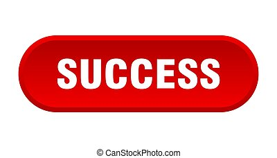 success button. rounded sign on white background