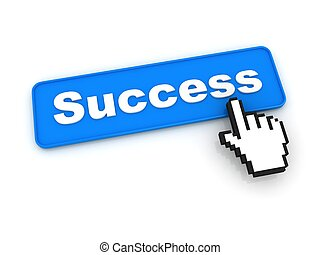 Success Button with Hand Cursor