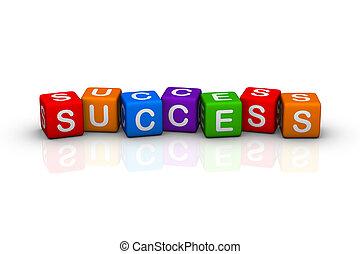 success (buzzword colorful cubes series)