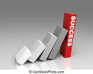 success can be quick - hi res rendering of stair of success