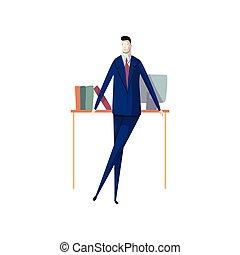 success., carrera, concept., lugar de trabajo, hombre de negocios, profesional