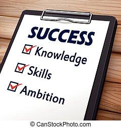 success clipboard illustration