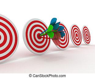 success concept. 3d illustration