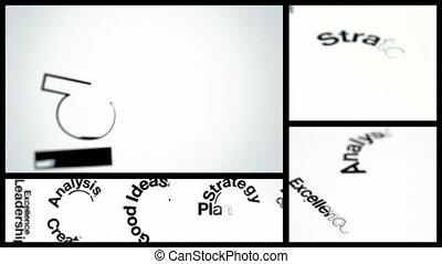 Success Concept Animation Montage