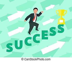 Success. Concept business illustration.