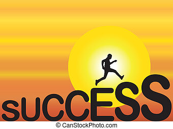success concept fit man running