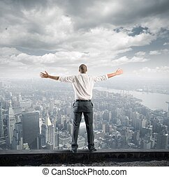 Success - Concept of success of a freedom businessman
