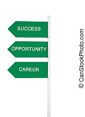 Success concept related words in sign