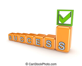 Success concept. - Sucess concept. Isolated on white ...