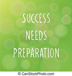 Success Concept - Vector illustration of motivational words...
