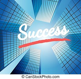 Success concept with abstract background
