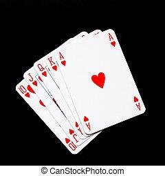 success concept with aces