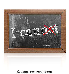 Success concept with I can on blackboard
